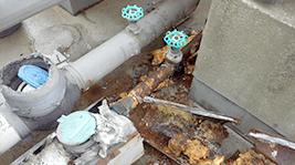 水道管の水漏れ