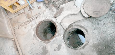 排水枡水漏れ修理